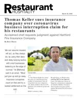Thomas Keller sues insurance company over coronavirus business interruption claim for his restaurants