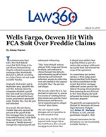 Wells Fargo, Ocwen Hit With FCA Suit Over Freddie Claims